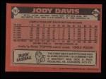 1986 Topps #767  Jody Davis  Back Thumbnail