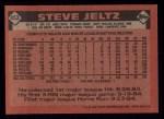 1986 Topps #453  Steve Jeltz  Back Thumbnail