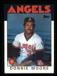 1986 Topps #345  Donnie Moore  Front Thumbnail