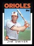 1986 Topps #653  Jim Dwyer  Front Thumbnail