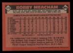 1986 Topps #379  Bobby Meacham  Back Thumbnail
