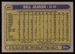 1987 Topps #447  Bill Almon  Back Thumbnail
