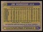1987 Topps #237  Jim Morrison  Back Thumbnail
