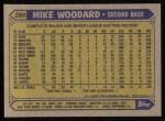 1987 Topps #286  Mike Woodard  Back Thumbnail