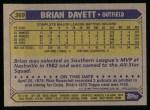 1987 Topps #369  Brian Dayett  Back Thumbnail