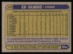 1987 Topps #159  Ed Olwine  Back Thumbnail