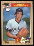 1987 Topps #616   -  Dave Righetti All-Star Front Thumbnail