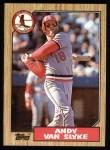 1987 Topps #33  Andy Van Slyke  Front Thumbnail