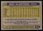 1987 Topps #742  Andy McGaffigan  Back Thumbnail