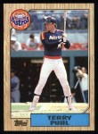 1987 Topps #693  Terry Puhl  Front Thumbnail