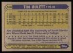 1987 Topps #566  Tim Hulett  Back Thumbnail