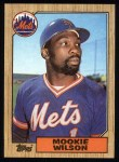 1987 Topps #625  Mookie Wilson  Front Thumbnail