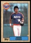 1987 Topps #670  Jose Cruz  Front Thumbnail