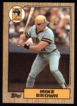 1987 Topps #341  Mike C. Brown  Front Thumbnail