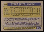 1987 Topps #294  Steve Jeltz  Back Thumbnail
