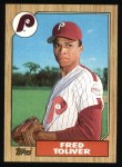 1987 Topps #63  Fred Toliver  Front Thumbnail
