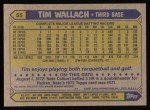 1987 Topps #55  Tim Wallach  Back Thumbnail