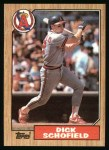 1987 Topps #502  Dick Schofield  Front Thumbnail