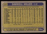 1987 Topps #337  Darrell Miller  Back Thumbnail