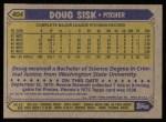 1987 Topps #404  Doug Sisk  Back Thumbnail
