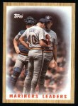 1987 Topps #156   Mariners Team Front Thumbnail