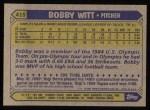 1987 Topps #415  Bobby Witt  Back Thumbnail