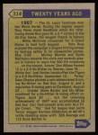 1987 Topps #314   -  Carl Yastrzemski Turn Back The Clock Back Thumbnail