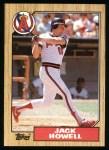 1987 Topps #422  Jack Howell  Front Thumbnail