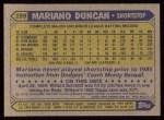 1987 Topps #199  Mariano Duncan  Back Thumbnail