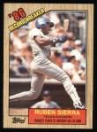 1987 Topps #6   -  Ruben Sierra Record Breaker Front Thumbnail