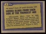 1987 Topps #6   -  Ruben Sierra Record Breaker Back Thumbnail