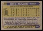 1987 Topps #353  Ernie Camacho  Back Thumbnail