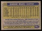 1987 Topps #523  Earnie Riles  Back Thumbnail