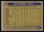 1987 Topps #642  Al Pulido  Back Thumbnail
