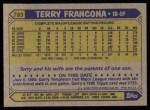 1987 Topps #785  Terry Francona  Back Thumbnail