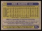 1987 Topps #71  Mike Aldrete  Back Thumbnail
