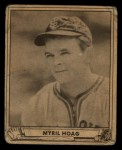 1940 Play Ball #52  Myril Hoag  Front Thumbnail