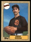 1987 Topps #730  Eric Show  Front Thumbnail