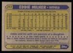 1987 Topps #253  Eddie Milner  Back Thumbnail