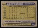 1987 Topps #780  Andre Thornton  Back Thumbnail