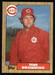1987 Topps #65  Tom Browning  Front Thumbnail