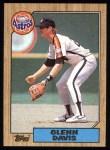 1987 Topps #560  Glenn Davis  Front Thumbnail