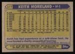 1987 Topps #177  Keith Moreland  Back Thumbnail