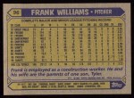 1987 Topps #96  Frank Williams  Back Thumbnail