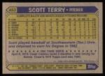 1987 Topps #453  Scott Terry  Back Thumbnail