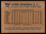 1988 Topps #180  Terry Kennedy  Back Thumbnail