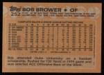 1988 Topps #252  Bob Brower  Back Thumbnail