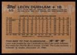 1988 Topps #65  Leon Durham  Back Thumbnail