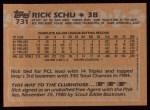 1988 Topps #731  Rick Schu  Back Thumbnail