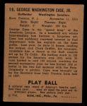1940 Play Ball #15  George Case  Back Thumbnail